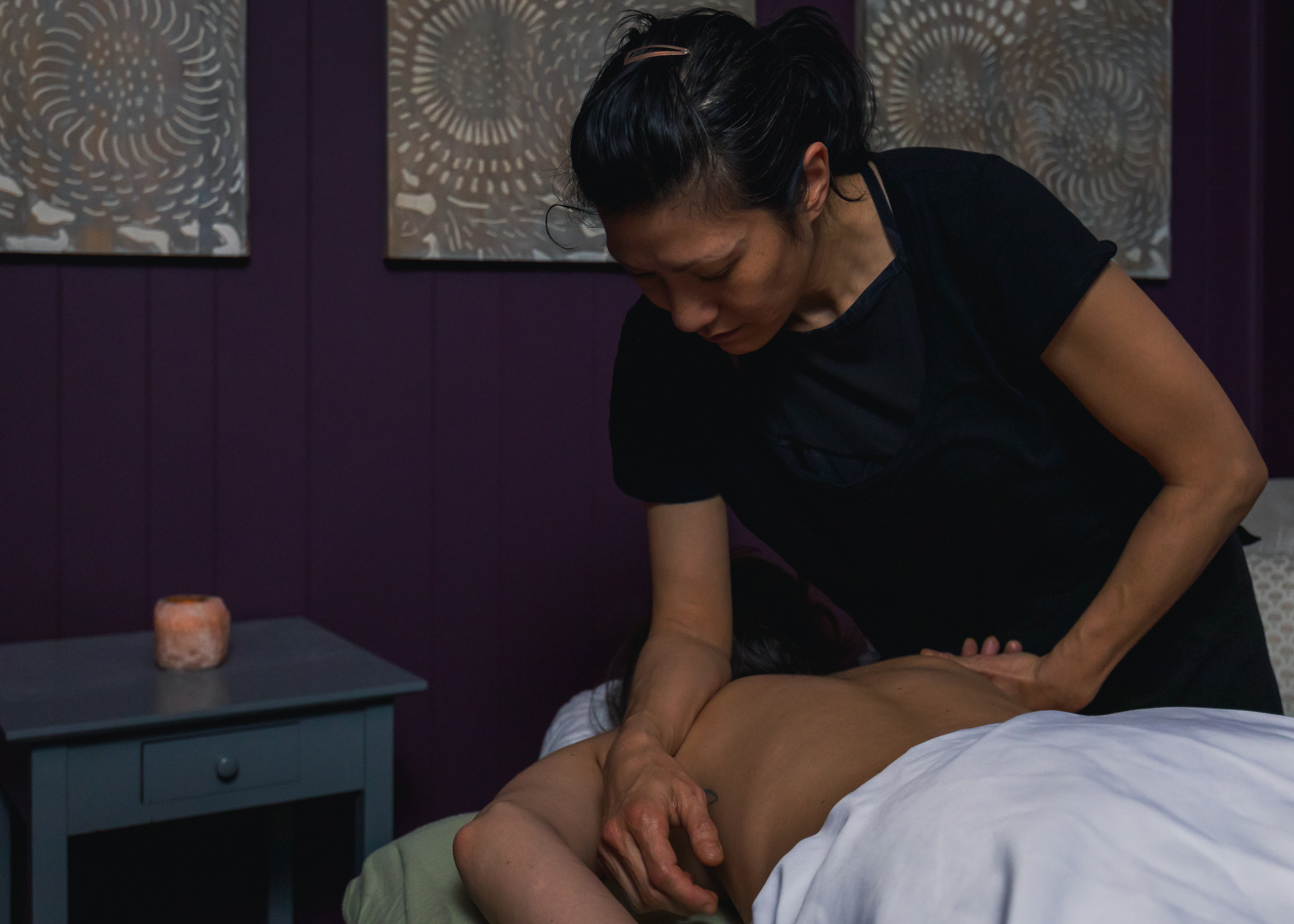 Massage Therapist Working on a Client
